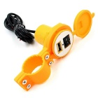 CS-277 12V Motorcycle Waterproof USB Charger w/ Switch - Yellow