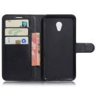 PU Leather Wallet Cases w/ Stand / Card Slots for Meizu MX6 - Black
