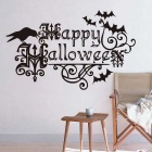 Removable DIY 3D Bat Decorative Wall Sticker - Black