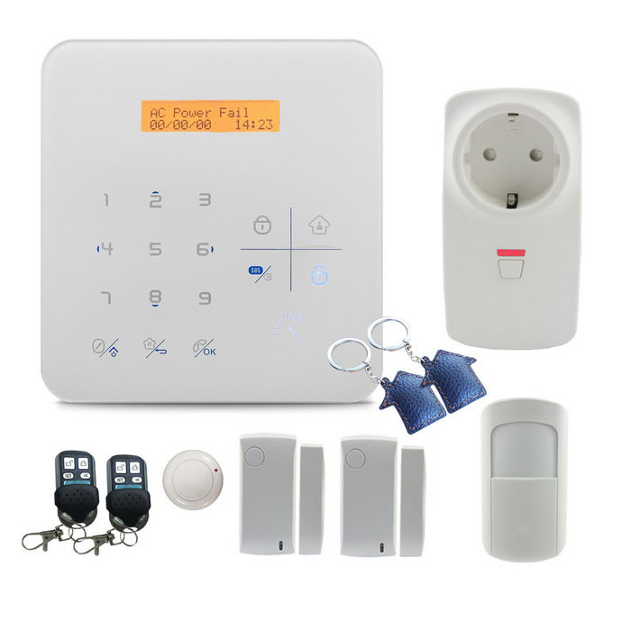 Wireless-LCD RFID GSM Wi-Fi autodial Smart Home Einbruchalarm - weiß