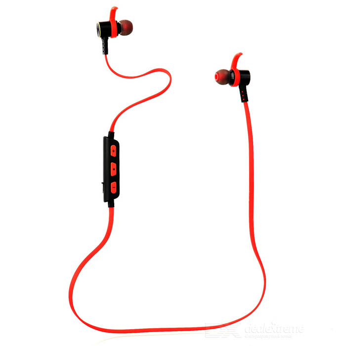 DseKai M5 Bluetooth V4.1 In-Ear Earphone w/ Microphone - Black + Red