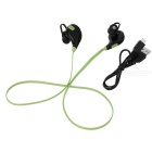 Outdoor Sports Bluetooth V4.0  In-Ear Earphone - Green + Black