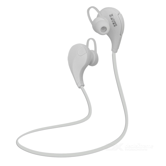 Outdoor Sports Bluetooth V4.0 Stereo In-Ear Earphone - White