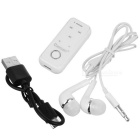 Cwxuan Clip-on Bluetooth V4.1 Headset w/ Earphone Set - White