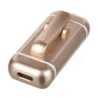 Cwxuan Clip-on Bluetooth V4.1 Headset w/ Earphone Set - Champagne Gold