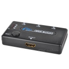BSTUO 1080P 3-in 1-out HDMI IR switch - preto