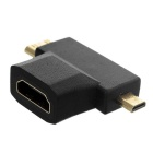 Micro HDMI / Mini HDMI M to HDMI F HD Converters - Black (2PCS)