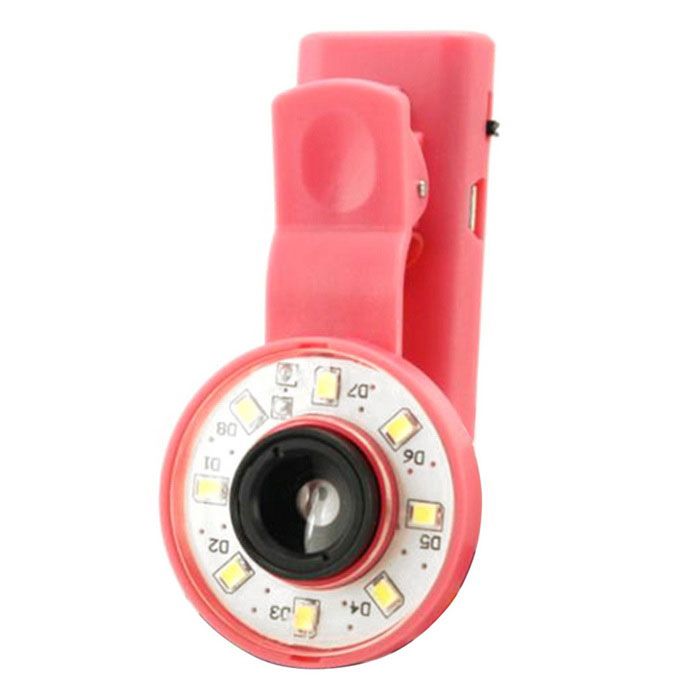 Mobile Phone Lens Light Facial Beautification LED Fill Light - Red