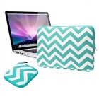 "EPGATE Laptop Sleeve Bag + Power Bag for 13.3"" Laptop - White + Green"