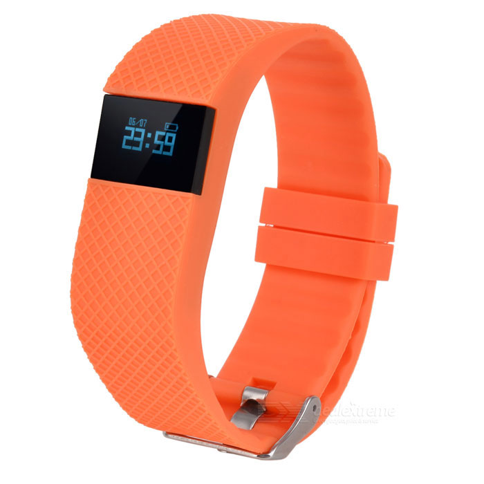 Eastor TW68 Bluetooth Smart Bracelet w/ Blood Pressure Monitor- Orange