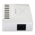 50W 100-240V 8-USB 8A EU Plug Charging USB Socket - White