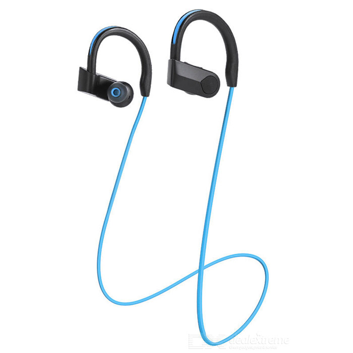 DseKai K98 Bluetooth V4.0 Earhook Earphone w/ Mic - Black + Blue