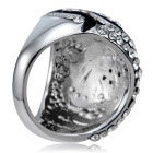 Xinguang Women's Simple Twist Full Diamond Crystal Ring (US Size 9)