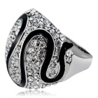 Xinguang Women's Simple Twist Full Diamond Crystal Ring (US Size 6)