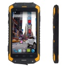 "4.5"" impermeable androide 4.4.2 8225Q dual-core, 4GB ROM smartphone w / wi-fi, TF - negro + amarillo"