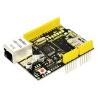 Keyestudio W5100 Ethernet Shield for Arduino - Black + Yellow