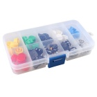 Boxed Tactile Push Button Switches Set - Transparent (50PCS)