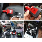 ZIQIAO 150W DC 12V to AC 220V Car Power Inverter - Black + Red