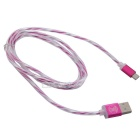 Hat-Prince Micro USB Data Charging Cable for Android Phone - Dark Pink
