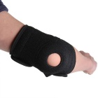 Adjustable Sports Elbow Elastic Pad Brace Support - Black