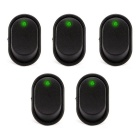 Modified Auto Rocker SPST Toggle Switches w/ Green LED Light for 12V Cars and Auto