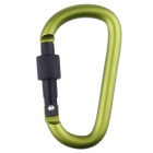 Outdoor Sports Multifunctional D-type Overstriking Aluminium Alloy Safety Buckle with Lock