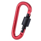 Outdoor D-type Overstriking Aluminium Alloy Safety Buckle - Red