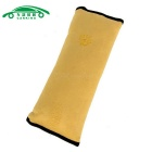 Car Baby Auto Seat Belt Cotton Sleeping Cushions Pillows Kids Safety Supplies - Yellow (2 PCS)