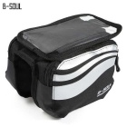 "B-SOUL YA0205 Bicycle Front Tube Bag for 5.7"" Phone - Silver (1L)"