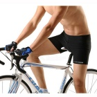 ROBESBON Thickened Silicone Cushion Cycling Shorts - Black (XXL)
