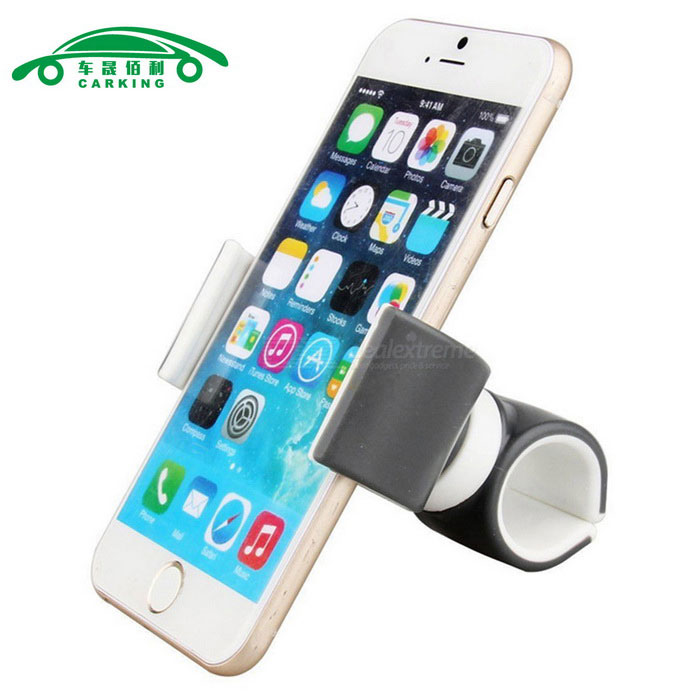 CARKING Air Vent Mount Bicycle Car Cell Phone Holder - Grey + White