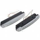Universal White 8-LED Daytime Running Fog Lights for Car (Pair)