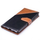 PU Leather Wallet Cases w/ Stand for Huawei P9 Lite - Brown + Black