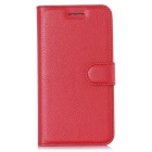 Lichee Pattern Protective Case for Doogee Y100 Pro - Red