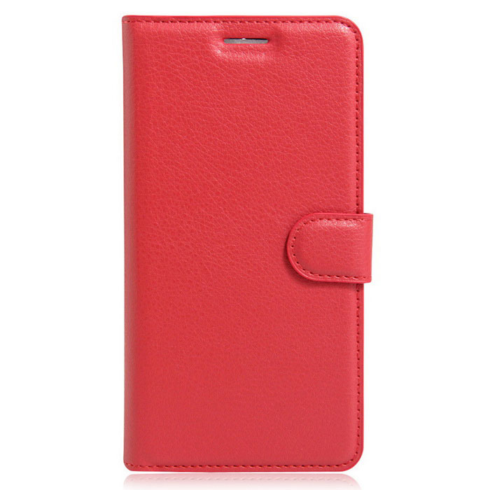 Lichee Pattern Protective Case for Doogee F5 - RedLeather Cases<br>Form  ColorRedModel-MaterialPUQuantity1 DX.PCM.Model.AttributeModel.UnitShade Of ColorRedCompatible ModelsDoogee F5FeaturesAnti-slip,Shock-proof,Abrasion resistance,Easy-to-remove,Holder functionPacking List1*Case<br>