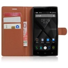 Lichee Pattern Protective Case for Doogee F5 - Brown