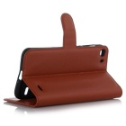 Lichee Pattern Protective Case for Doogee F3 /F3 Pro - Brown