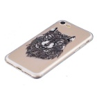 Wolf Pattern TPU Protective Back Case Cover for IPHONE 7 - Transparent