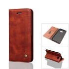 Protective PU + TPU Flip Case for Samsung Galaxy Note 7 - Brown