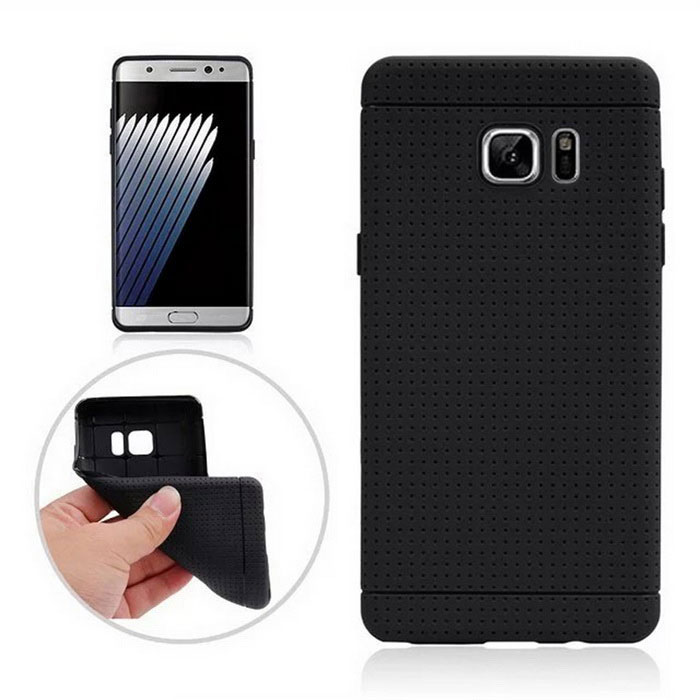 Protective TPU Back Case for Samsung Galaxy Note 7 - Black