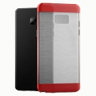 Protective PC + TPU Clear Back Cover for Samsung Galaxy Note 7 - Red