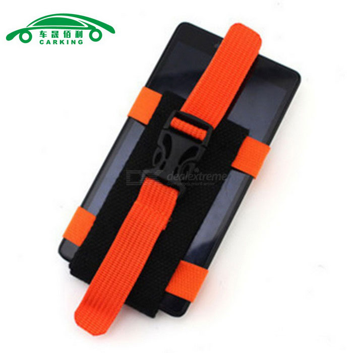 Multi-functional Sports Mobile Phones Running Armband - Black + Orange