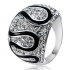 Xinguang Women's Simple Twist Full Diamond Crystal Ring (US Size 8)