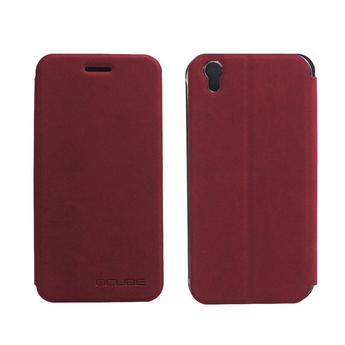 OCUBE PU Leather Case for Umi London Mobile Phone - Wine Red