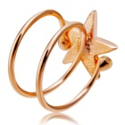 Xinguang Women's Lucky Star Crystal Ring - Rose Gold (US Size 7)