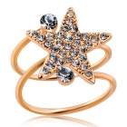 Xinguang Women's Lucky Star Crystal Ring - Rose Gold (US Size 9)