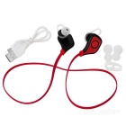 Utomhus Sport Bluetooth V4.0 In-Ear Earphone - Svart + Röd