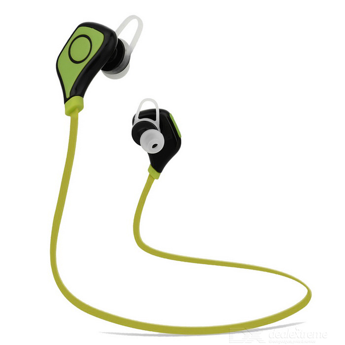 Outdoor Sports Bluetooth V4.0 In-Ear Earphone - Black + Green