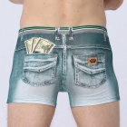 3D Dollars Printing Boxer Underwear Cowboy - Light Green (M)
