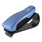 ZIQIAO Car Visor Glasses Sunglasses Ticket Clip Holder - Blue + Black